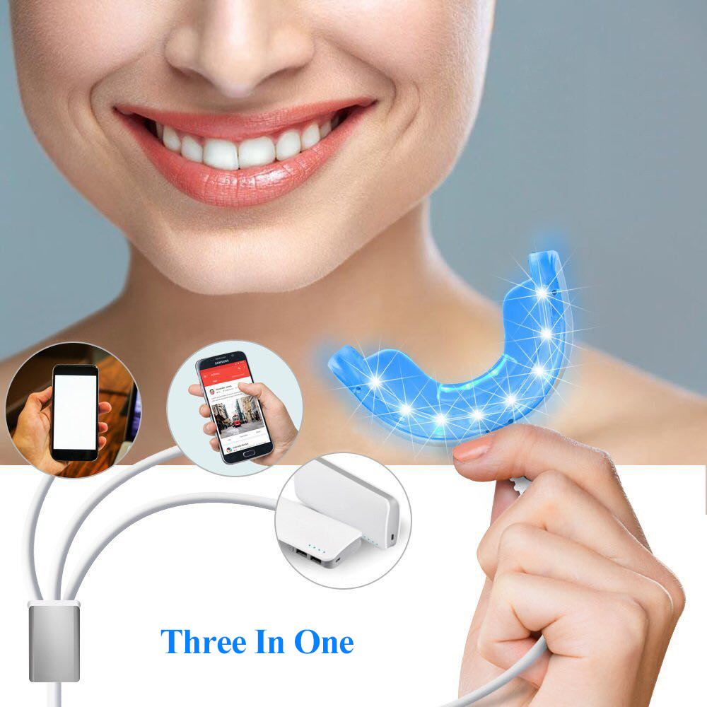 16 LEDs Cold Light Teeth Whitening Device Mouth Tray USB Dental Professional Tooth Whitener Bleaching Personal Oral Care Tool 4