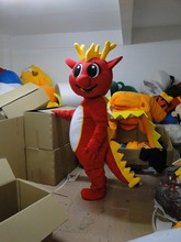 High quality hot sales 2015 Red Dragon mascot costume free shipping clothing