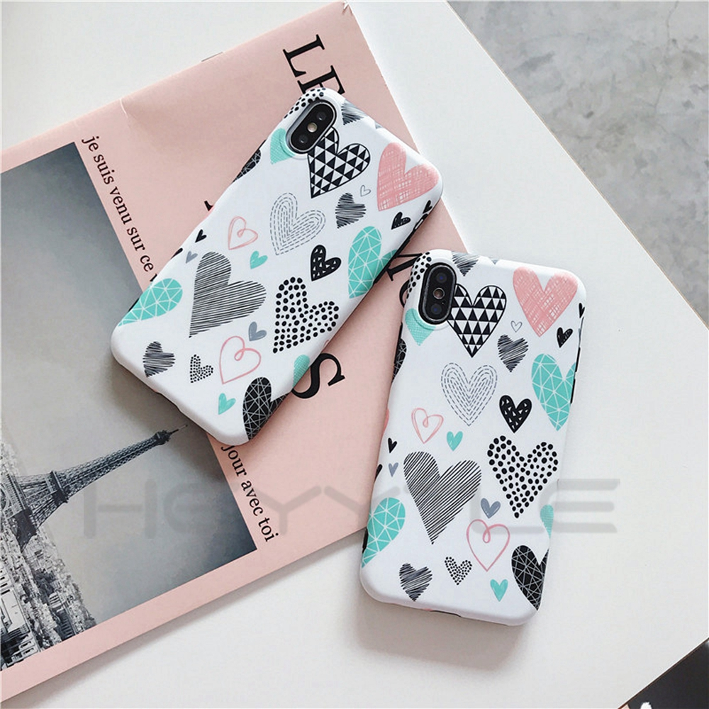 Qute Patterned Phone Iphone X 8 7 6S 6 Plus Cases Soft Hand Painted Back Cover All Inclusive Shell
