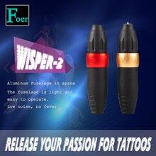O.G Wisper2 Tattoo Machine Pen Black Rocket Gun Professional Rotary Machines Aviation Aluminum Casing