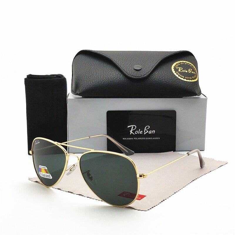Lunettes de soleil pilotes de conception de marque Aviation hommes et femmes lunettes de soleil polarisées miroir UV mode classique pour conduire des lunettes de soleil de pêche