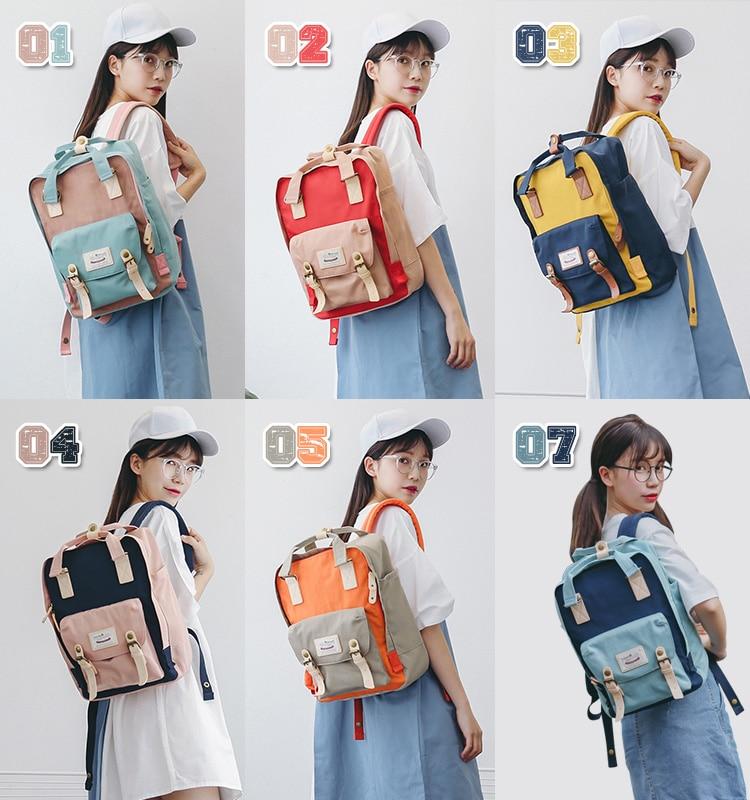 Himawari marca bonito náilon mochilas saco de