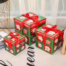 3 Christmas Eve present Gift Boxes each three in different sizes