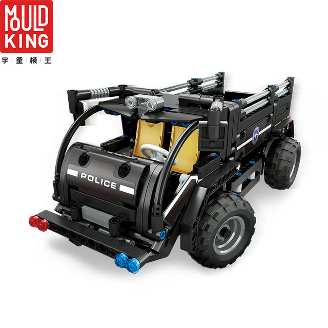 Mould king 13008 city swat team police rc car remote control truck building blocks technic car lepin™ land
