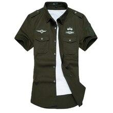 New fashion men short sleeve shirt high quality cotton shirts