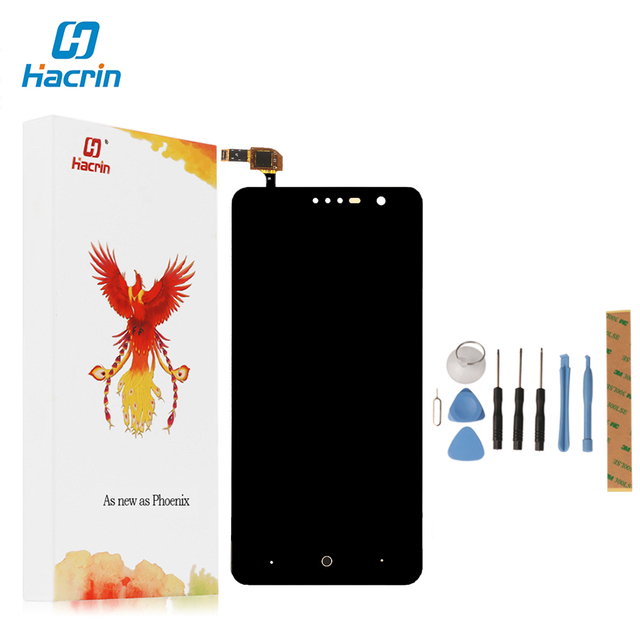 Hacrin For ZTE Grand X4 Z956 Z957 Touch Screen+Lcd Display New Digitizer Glass Panel Assembly Screen For ZTE Grand X4 Z956 Z957