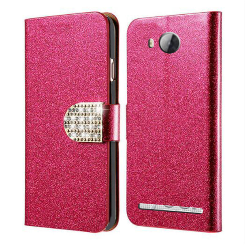 design di qualità 7e616 4d89d Gitter Leather Flip Covers Cases For Huawei LUA-L21 Y3 II Y3 2 Y3II Y3 2nd  LUA-L02 LUA-L03 LUA-L22 LUA-U22 Cover Case