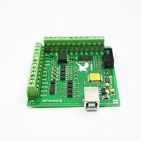 100KHz mach3 usb 4 Axis Stepper motor controller card USB CNC motion Controller card