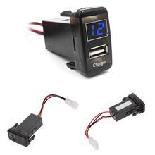 Socket-Plug Voltmeter Led-Indicator Car-Charger TOYOTA USB 5V for VIGO Red Bule Auto-Accessories
