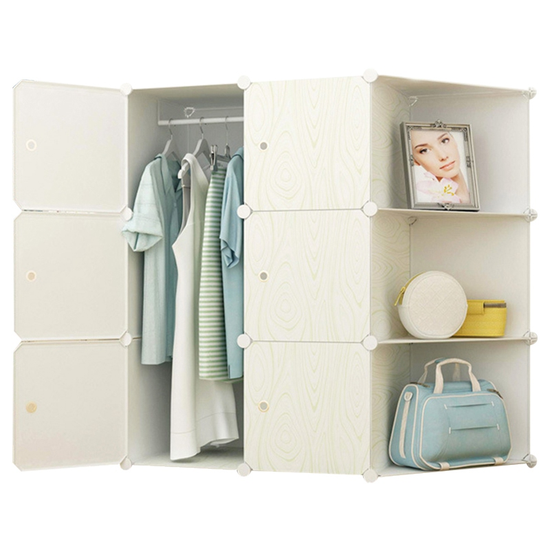 Creative DIY Closet Magic Piece Plastic Wardrobe Storage Cabinets Simple Wardrobe Assembly Wardrobe Bedroom Furniture Closet simple fashion moistureproof sealing thick oxford fabric cloth wardrobe rustproof steel pipe closet 133d