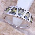 Wholesale Flawless Green Peridot 925 Sterling Silver  High Quality Grade Ring Size 6 / 7 / 8 / 9 R1613