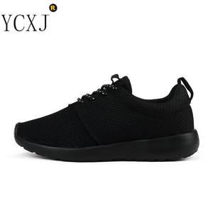 26d6a7dbfd0e0 Breathable Black EVA Mesh Light running shoes for men women 2018