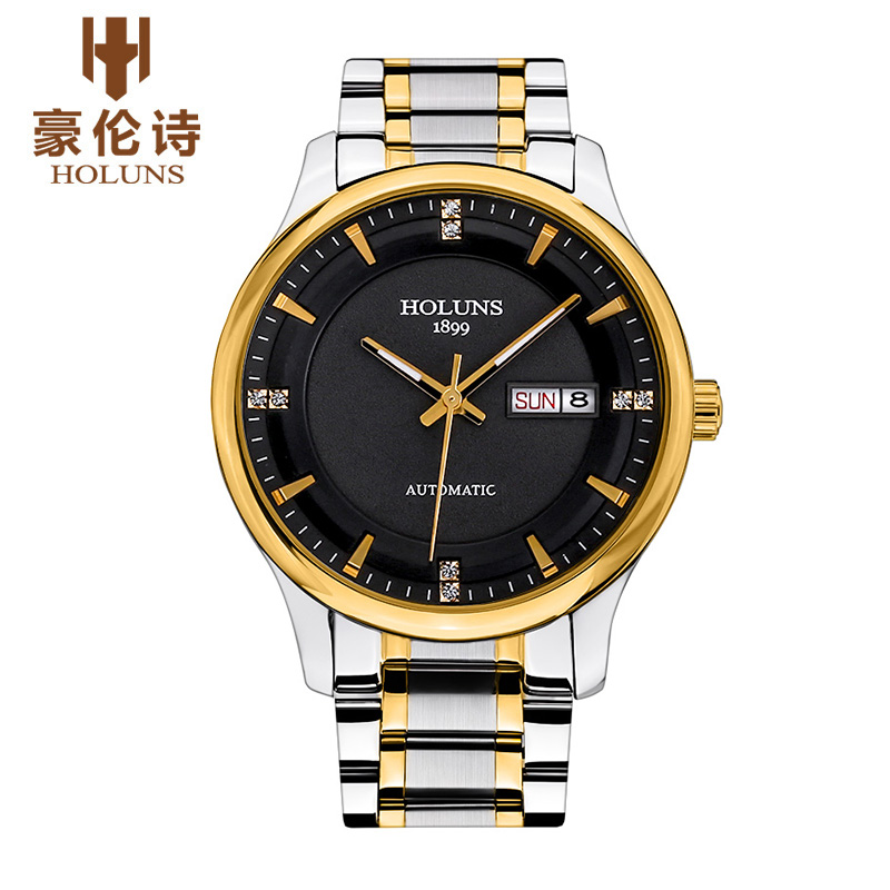 2016 Luxury HOLUNS Brand Men s Watch Automatic Mechanical Watches Full Steel Waterproof Male Casual Business