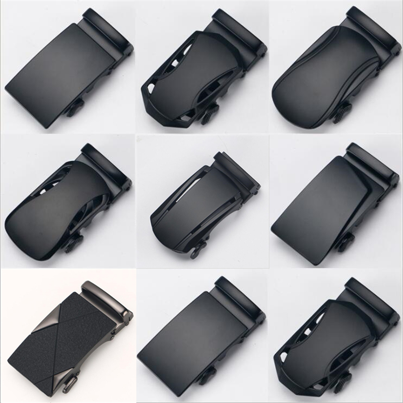 Genuine Men's Belt Head Belt Buckle Leisure Belt Head Business Accessories Automatic Buckle Width Black 3.5CM Luxury Fashion G 9
