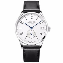 Agelocer Fashion Watches for Men White Dial Analog Watches Stainless Steel Automatic Watches Male Gift 1101A1-1202A1