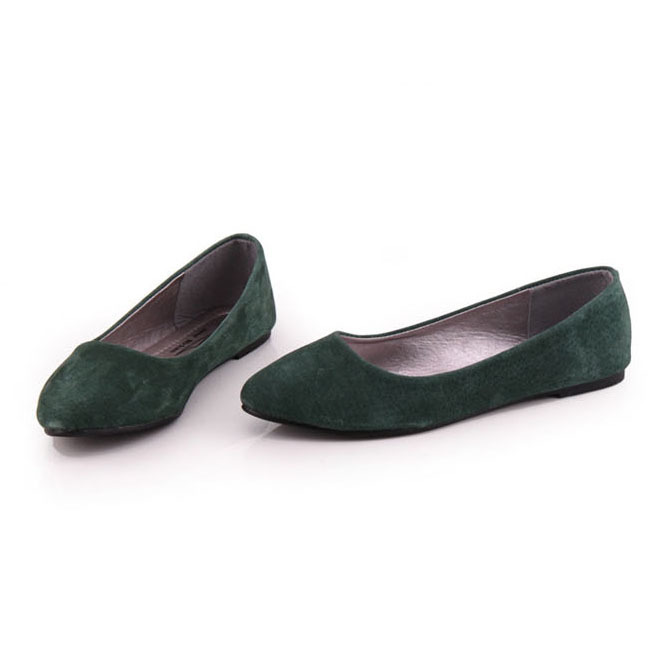 04e8c16969d67 Hot Selling Vintage Genuine Leather Women Flat Shoes Fashion Solid Plain  Pointed Toe Slip on Women Flats Ladies Ballet Flats-in Women's Flats from  Shoes on ...