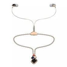 Новинка модные наушники со стразами роскошные жемчужное ожерелье наушники для женщин подарок стерео вкладыши Auriculares воротник