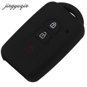Image 2 - Jingyuqin車のキーシリコーンfob日産公爵のために保護するマイクラキャシュカイジュークエクストレイルナバラリモートキーレス
