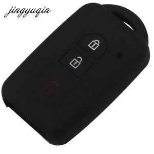 Image 2 - jingyuqin Car Key Silicone FOB Case Cover Skin Protect For Nissan Duke MICRA QASHQAI JUKE X Trail NAVARA Remote keyless