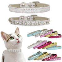 suprepet-shining-diamond-rhinestone-cat-collar-puppy-baby-dog-cat-collar-leather-strap-for-kitten-accessories