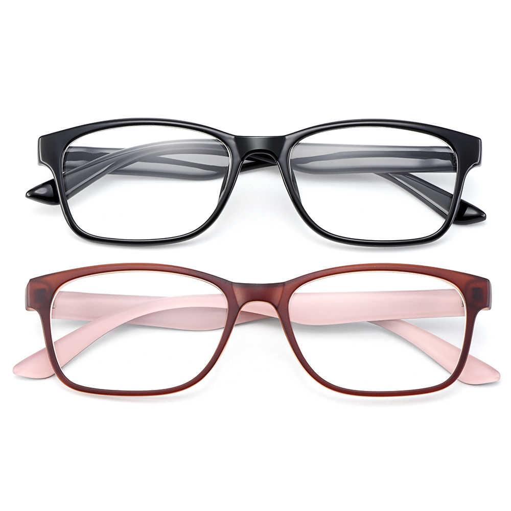 Gmei Optik Ultralight Square Full Rim Plastik Wanita Bingkai Kacamata Miopia Presbyopia Membaca Resep Kacamata H8008