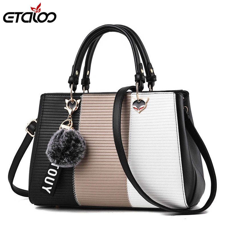 Women's Handbags Leather Bags for Women 2019 Casual Tote Ladies Bags Bolsos Fur Women Messenger Bags