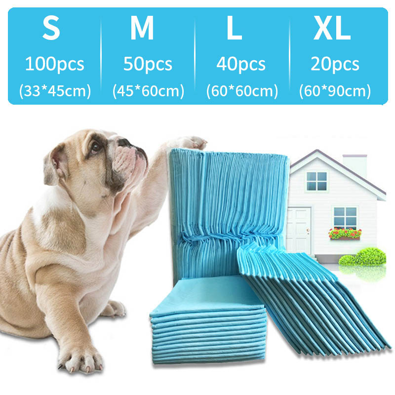 Dog Training Urine Pad Super Absorbent S-XL Size Pet Diapers Dogs Cats Cleaning Tools Pet Dog Nappy Antibacterial Deodorizing