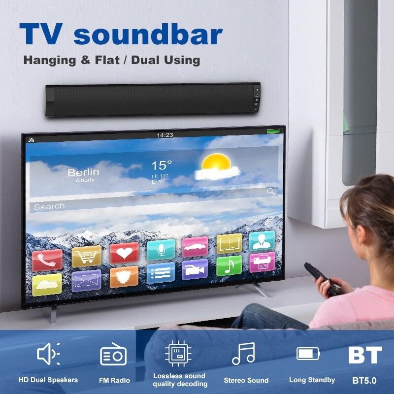 2019 haut-parleurs Audio de basse forte filaire et sans fil Bluetooth 5.0 barres de son pour TV Audio basse et HIFI Support de puce 3.5mm - 2