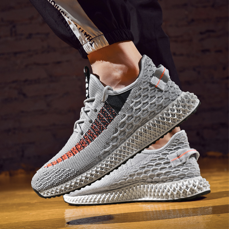 Ollymurs Men Running Shoes Breathable Fly Weave Sneakers Outdoor Sport Black White Grey Footwear Male Big Size men sneakers tênis masculino lançamento 2019