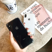 Fashion Anti-knock Shockproof Case For iphone X XR XS XSMax Transparent soft TPU case for 6S 6 7 8 7plus Protective shell