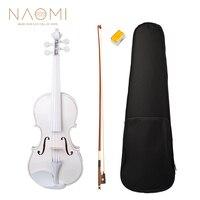 NAOMI Student Violin 4/4 Full Size Violin Fiddle SET For Kids Beginners White Violin