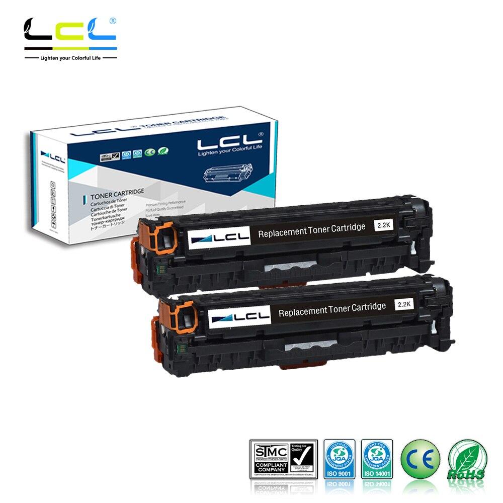 LCL 305A CE410A CE410 410A (2-Pack noir) cartouche de Toner Compatible pour HP Laserjet Enterprise 300 couleur M351