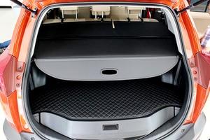 Image 5 - 2013 2014 2015 2016 2017  For Toyota RAV4  Accessries  Aluminium & Cloth Rear Trunk Shade Cargo Cover  1set