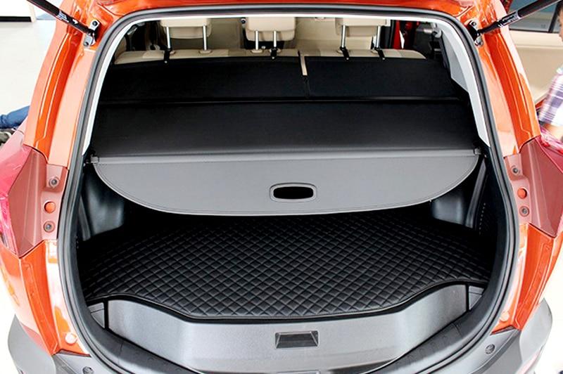Image 5 - 2013 2014 2015 2016 2017 для Toyota RAV4 accessries алюминия и ткань задний багажник Тенты Грузовой Обложка 1 компл.-in Багажники для крыши авто и ящики from Автомобили и мотоциклы