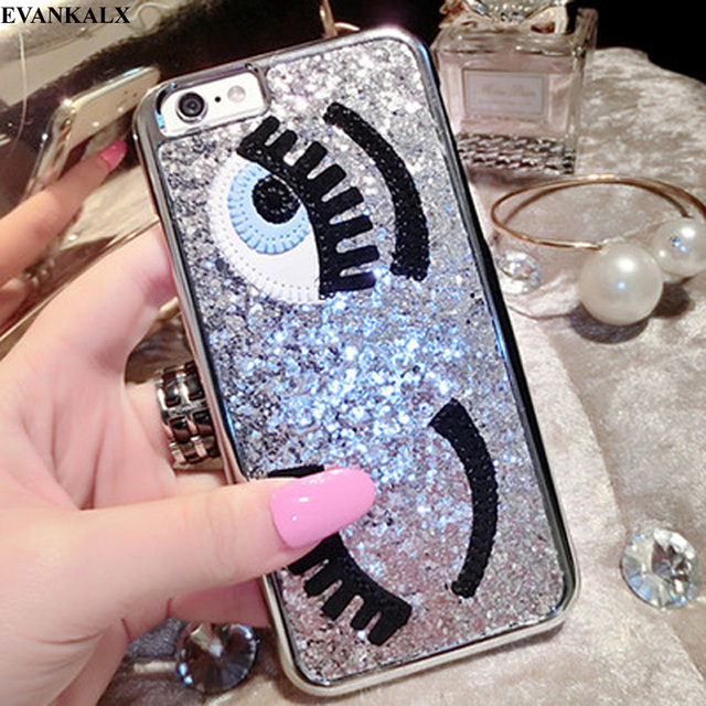 official photos 6b0b8 086c1 US $3.89 |EVANKALX Cover For iPhone 6 6s plus Flirting Eyes Brilliant Miss  Gossip Chiara Ferragni 3D Hard Cover Case For iPhone 8 7 6 -in Fitted Cases  ...