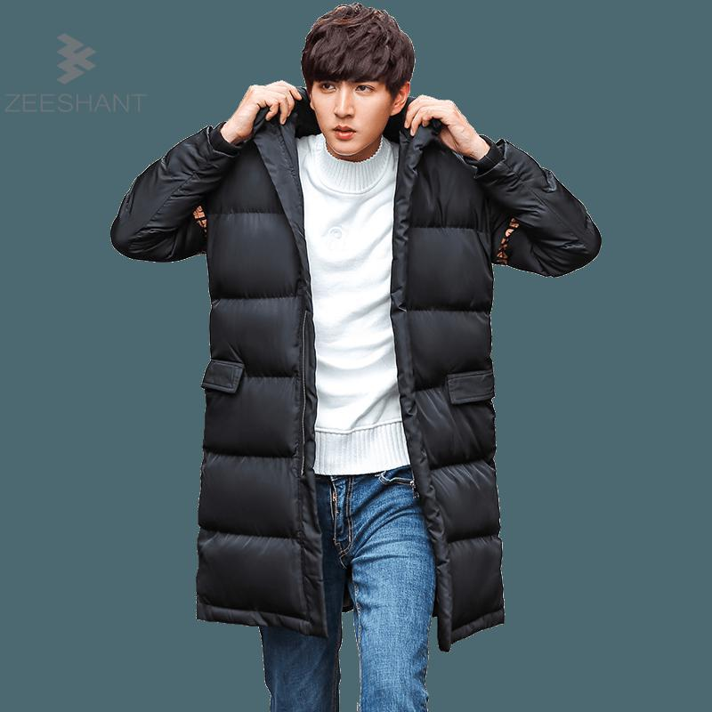 ZEESHANT 2017 New Clothing Jackets Business Long Thick Winter Coat Men Solid Parka Fashion Overcoat Outerwear Sudaderas Hombre zeeshant new clothing jackets business long thick winter coat men solid parka fashion overcoat outerwear in men s parkas xxxl