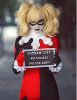 Free Shipping Women's Cartoon Dress Movie Custom Made Harley Quinn Cosplay Harley Quinn Costume