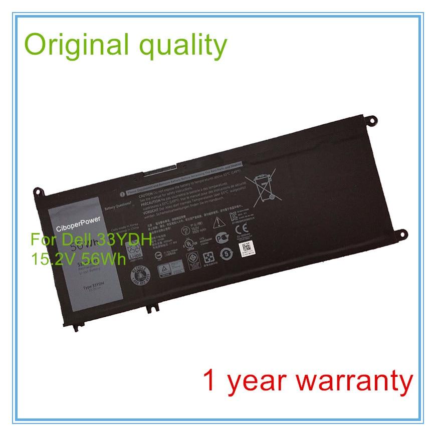 New 15.2V 56Wh 3500mAh Original 33YDH Battery for 7778 2017 liitokala 2pcs new protected for panasonic 18650 3400mah battery ncr18650b with original new pcb 3 7v