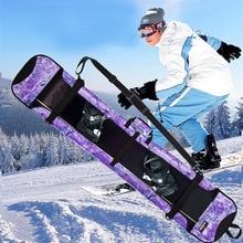 6407a5aea5 Snowboard bag veneer board set ski bag shoulder ski backpack checked  anti-rust rust veneer