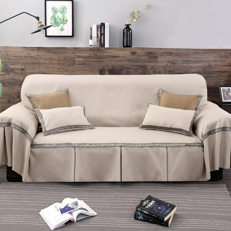1pc Solid Color Sofa Cover for Living Room Universal Sofa Towel All inclusive Dust Cover Couch