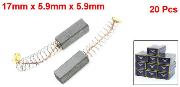 "43//64/"" x 15//64/"" x 15//64/""  Carbon Brushes Generic Electric Motor 20PCS"