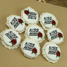 The Rose embroidery Brooch badge embroidery accessories