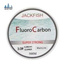 New Available 500M Fluorocarbon Fishing Line 0 165 0 46mm 5 32LB Carbon Fiber Leader Line