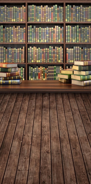 Betrouwbare Boekenplank Achtergrond Fotografie Vintage Kinderen Bibliotheek School Achtergrond Photocall Houten Vloer Achtergronden Voor Foto 's
