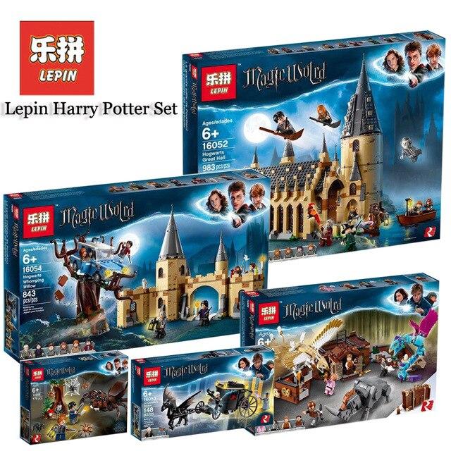 LEPIN Harry Potter 16030 16031 16060 16028 16052 16054 16055 16059 The Hogwart Castle Compatible Legoings 4842 75954 75953 71043
