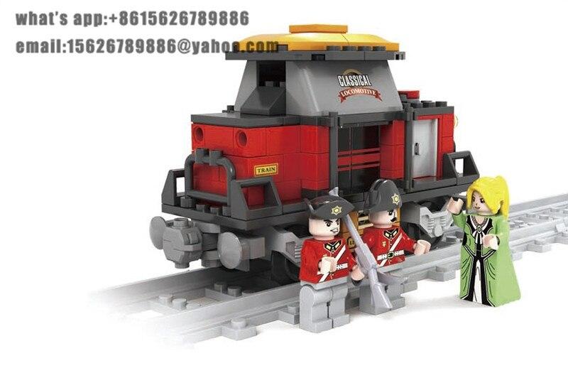 Model building kits compatible with lego train rail`006 3D blocks Educational model building toys hobbies for children