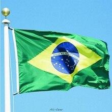 Горячие 90X150 см бразильский флаг полиэстер флаг для наружного и внутреннего размещения украшения дома BR флаги A89