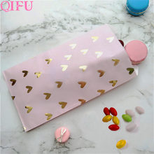 QFU Packing Christmas Gift Bag Candy Box Kraft Bag Paper Popcorn Box Goodie Bags Printed Paper Treat Bags Paper Birthday Party(China)