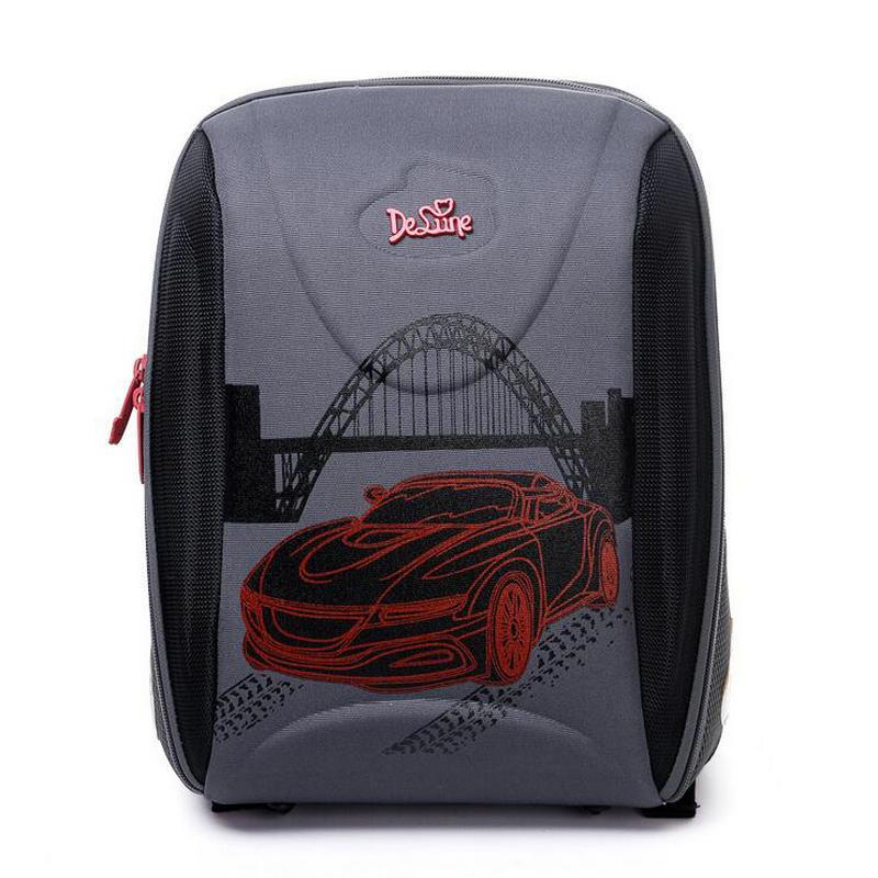 2018 New Arrival Delune Brand Boys School Bags Children Bags Waterproof Orthopedic Backpack Kids High Quality Car Schoolbag