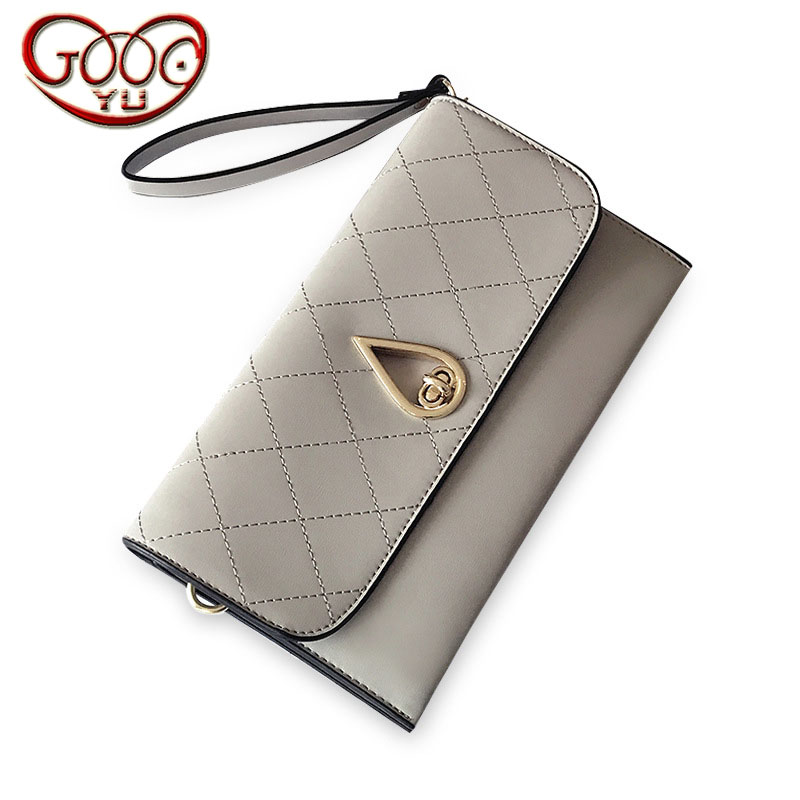 Hete Verkoop Dames Plaid Modeketen Messenger Kleine Vierkante Hoge Kwaliteit Pu Lederen Doorsnede Vierkante Envelop Clutch Bag Aangenaam In De Nasmaak